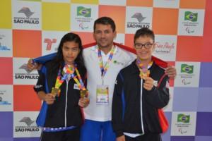 Davi Hermes e Luana nas Paralimpíadas Escolares
