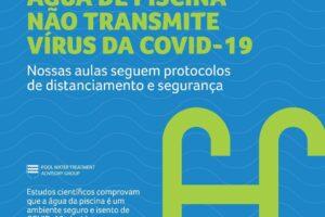 Natação não transmitir virus da convid-19